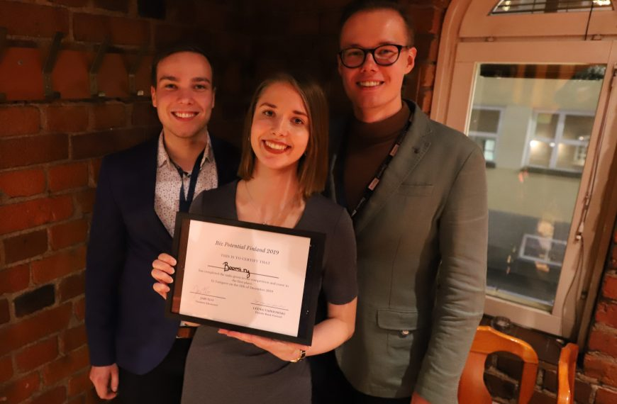 Team Boomi is the winner of Biz Potential Finland 2019