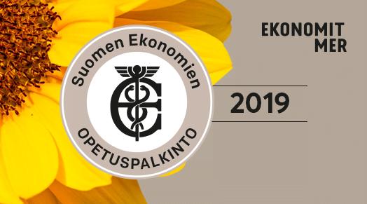 Suomen Ekonomien opetuspalkinto 2019