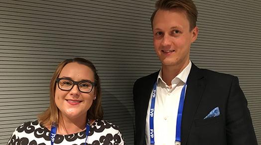 Venla Vainio-Puhju ja Niklas Ahlqvist