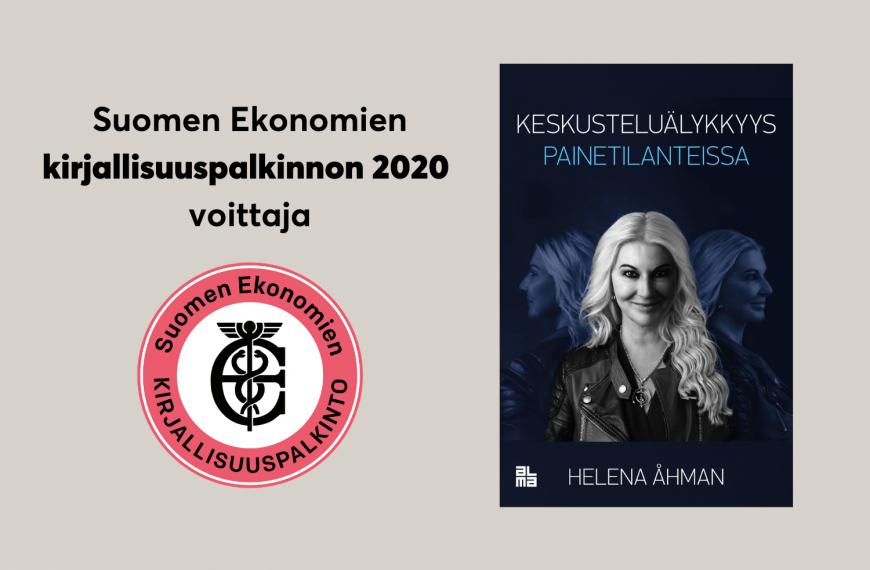 Suomen paras bisneskirja 2020 on Helena Åhmanin Keskusteluälykkyys painetilanteissa